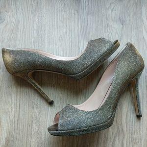 Kate Spade New York Heels Glitter Bronze Lurex